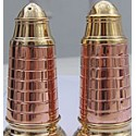 Echantillon Salière et poivrier PHARE Marin en cuivre rouge - 3128