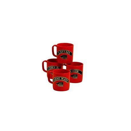 Set de 4 mugs Marins - 3157AROUGE