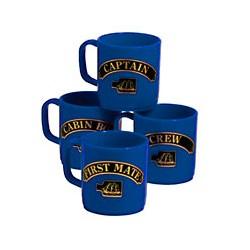 Set de 4 mugs Marins - 3157BBLEU