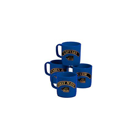 Set de 4 mugs Marins - 3157BBLEU