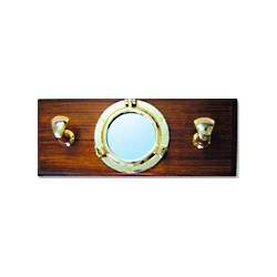 Miroir hublot porte-manteaux - 3203