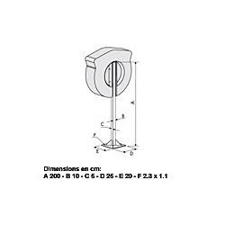 Poteau pour coffre bouée couronne Solas AVEC PORTE - 3220E POTEAU + KIT