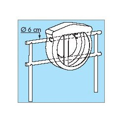 Kit de montage sur tube pour coffre AVEC PORTE - 3220H