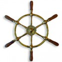 Barre à roue POSEIDON laiton et bois - 9412