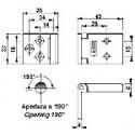 Echantillon Charnière à fil inox 45X30 mm - 9435I