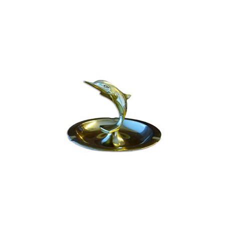 Cendrier dauphin laiton - 9466