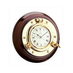 Horloge hublot sur bois 15,5 cm - 9497