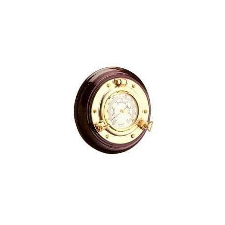 Baromètre hublot sur bois - 94971BAROBOIS