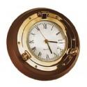 Horloge hublot sur bois 32 cm - 9516
