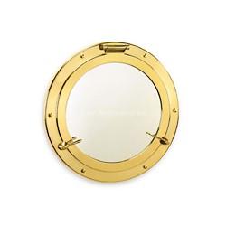 Miroir hublot 37 cm laiton ou chromé Cap Town - 9520 LAITON