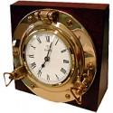 Horloge hublot de bureau sur bois - 9522