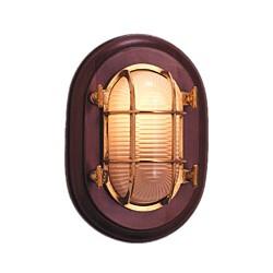 Lampe hublot sur bois - 9537