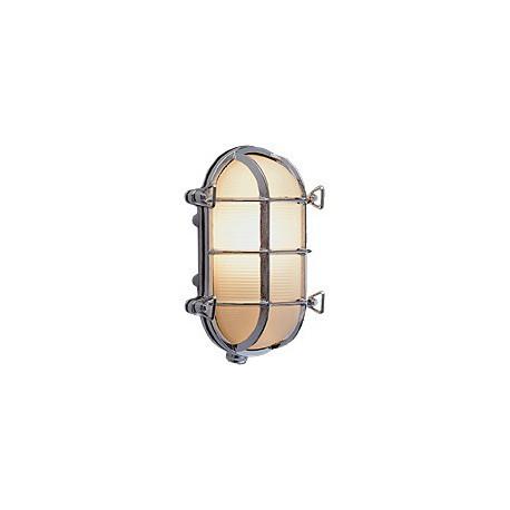 Applique hublot CABOURG chromé - 9538BCR VERRE OPAQUE