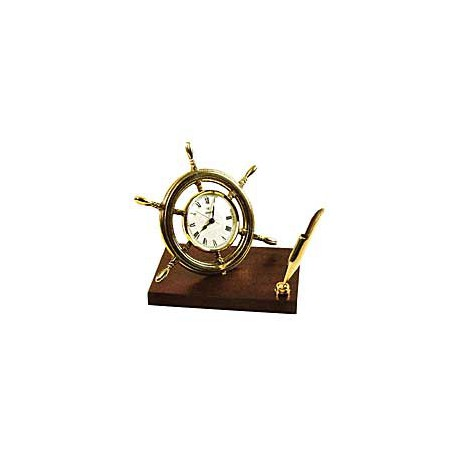 horloge barre roue sur socle bois superbe horloge porte stylo mont s sur socle bois. Black Bedroom Furniture Sets. Home Design Ideas