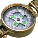 Echantillon Compas de relèvement métal doré - 9801