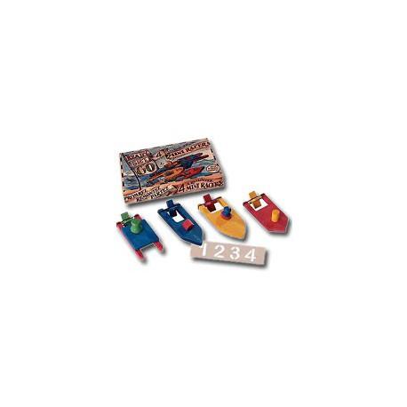Bateaux de course en bois pour le bain Mini Racers - 9810