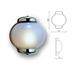 Lampe coupole en laiton massif - 9824 laiton