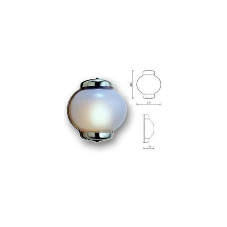 lampe coupole en laiton massif applique coupole en verre. Black Bedroom Furniture Sets. Home Design Ideas