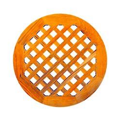 Caillebotis rond en teck pour la douche - A1017 50 cm