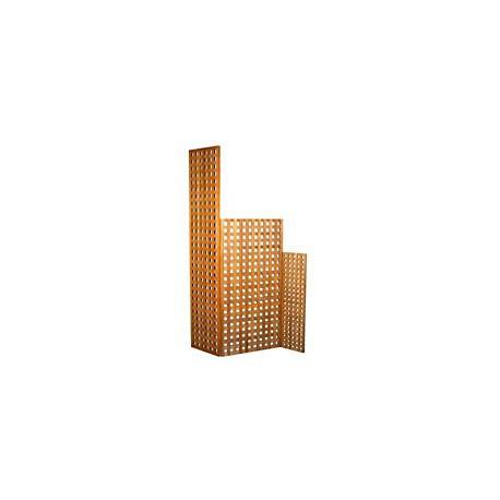Panneaux en caillebotis de teck massif - A1500 75x20 cm