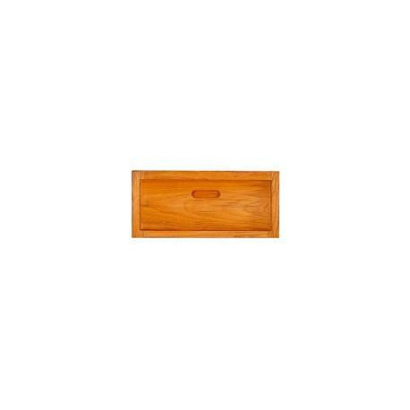 Façade de tiroir en teck avec cadre - A730 30,5x15,5 cm