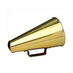 Mégaphone en laiton massif ou porte-voix - 0032