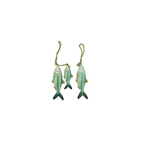 Poisson décoratif en céramique - la paire - 9735A POISSON SIMPLE - LOT DE 2