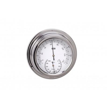 Grand thermomètre Hygromètre INOX diamètre 160 mm