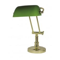 Lampe banquier opaline verte ou blanche