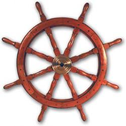 Barre à roue Marina en bois d'acacia et laiton