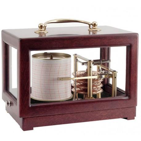 Baromètre enregistreur - Petit modèle Acajou - NAUDET