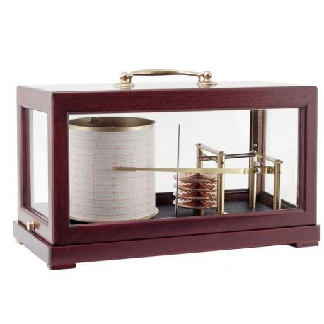 Baromètre enregistreur - Grand modèle Acajou - NAUDET