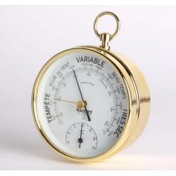Marineshop - Baromètre Thermomètre à aiguille NAUDET - Face