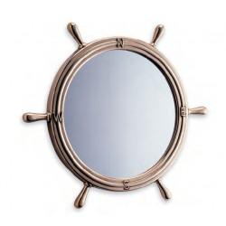 Miroir barre à roue en laiton poli - Marineshop