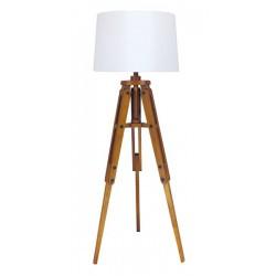 Marineshop - Lampe Trépied en bois - H: 122cm