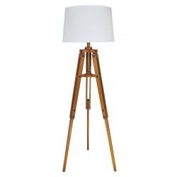 Marineshop - Lampe Trépied en bois - H: 158cm