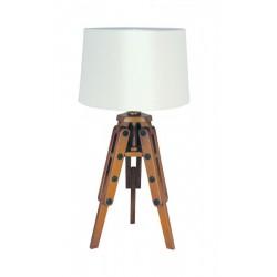 Marineshop - Lampe Trépied en bois - H: 60cm