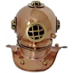Casque scaphandrier cuivre Rustique - Marineshop
