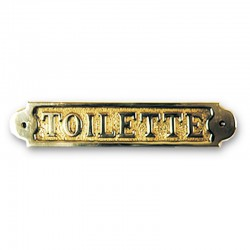Plaque de porte laiton TOILETTE - MarineShop.biz