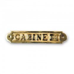 Plaque de porte laiton CABINE III