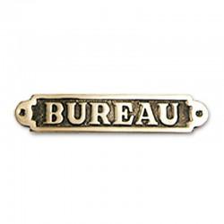 Plaque de porte laiton BUREAU
