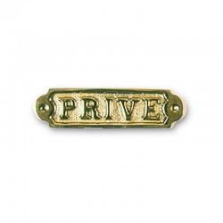 Plaque de porte laiton PRIVE