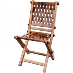 Marineshop.biz - Chaise pliante tresséee - bois exotique Pondichery
