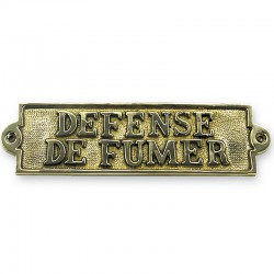 Marineshop.biz - Plaque de porte laiton - Defense de fumer