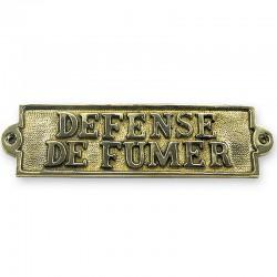 Marineshop.biz - Plaque de porte laiton - Defense de fumer