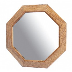Miroir en teck - ø 30,5 cm - Marineshop