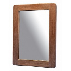 Miroir en teck rectangulaire - 38 x 28 cm - Marineshop