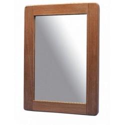 Miroir en teck rectangulaire - 25 x 18 cm - Marineshop