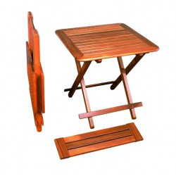 Table pliante 'Brest' en teck avec rallonge - Marineshop