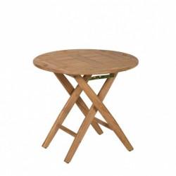 Table BUTLER ronde en teck avec plateau amovible - Marineshop